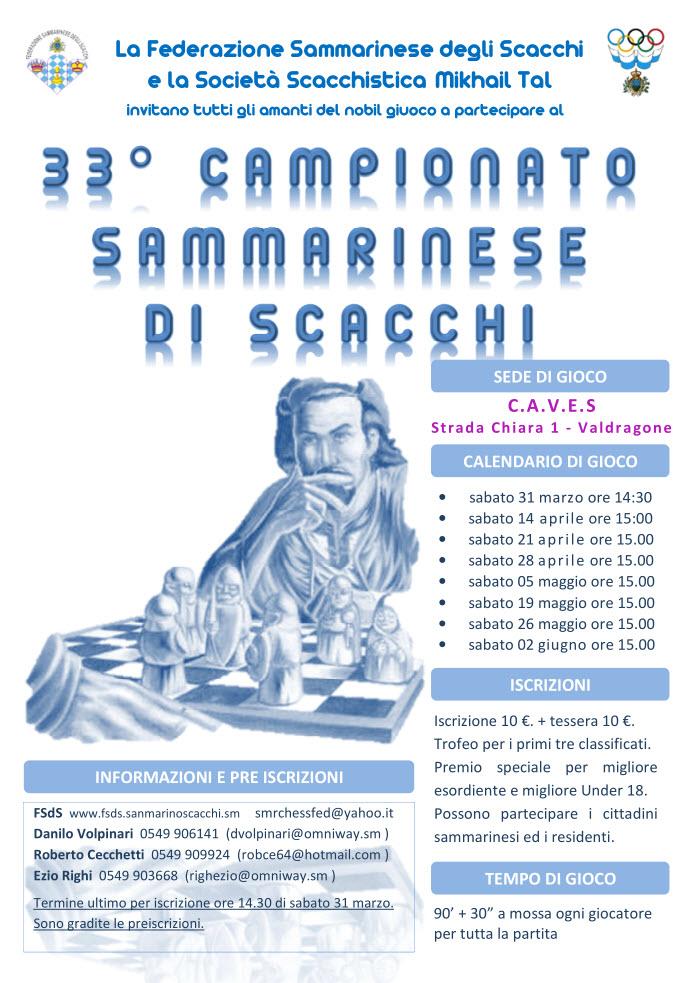 Invito al Campionato Assoluto e Corsi di Scacchi 2012