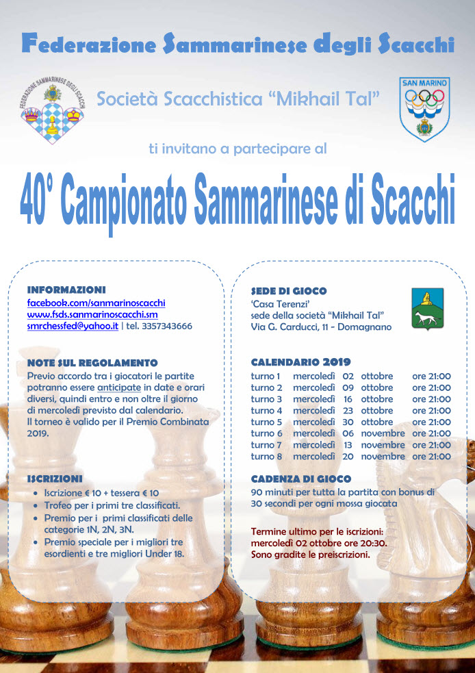 Campionato Sammarinese Assoluto e di Categoria 2019
