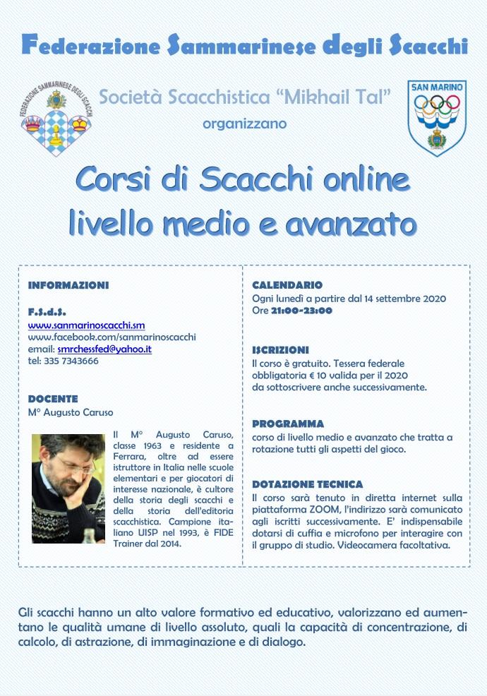 Corsi di Scacchi Online con Augusto Caruso
