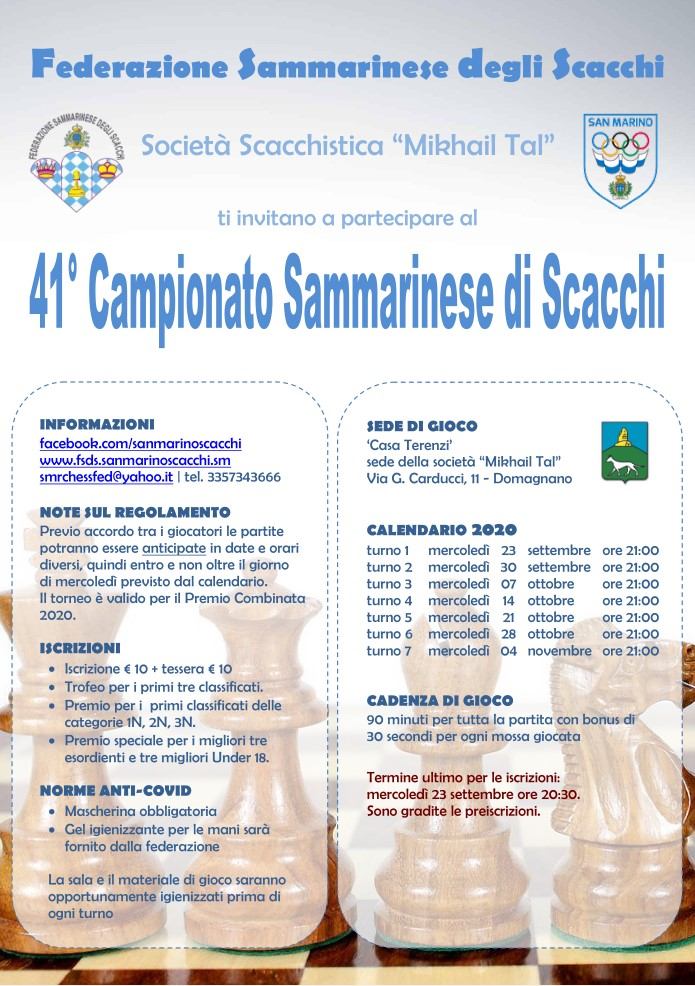 Campionato Sammarinese Assoluto e di Categoria 2020