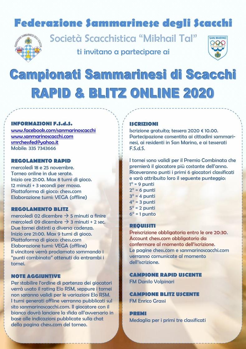 Campionato Sammarinese Rapid Online 2020