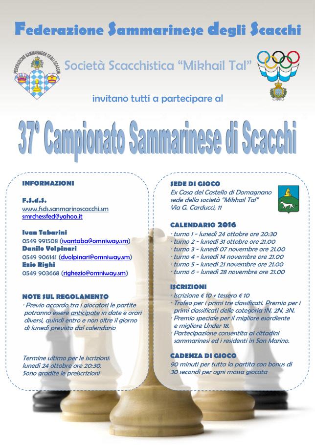Campionato Sammarinese Assoluto e di Categoria 2016