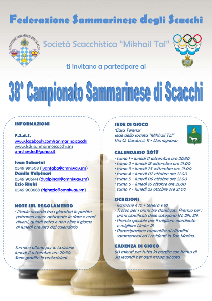 Campionato Sammarinese Assoluto e di Categoria 2017